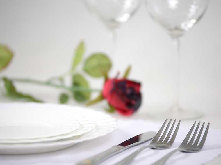 Partyservice - Geschirr und Besteck
