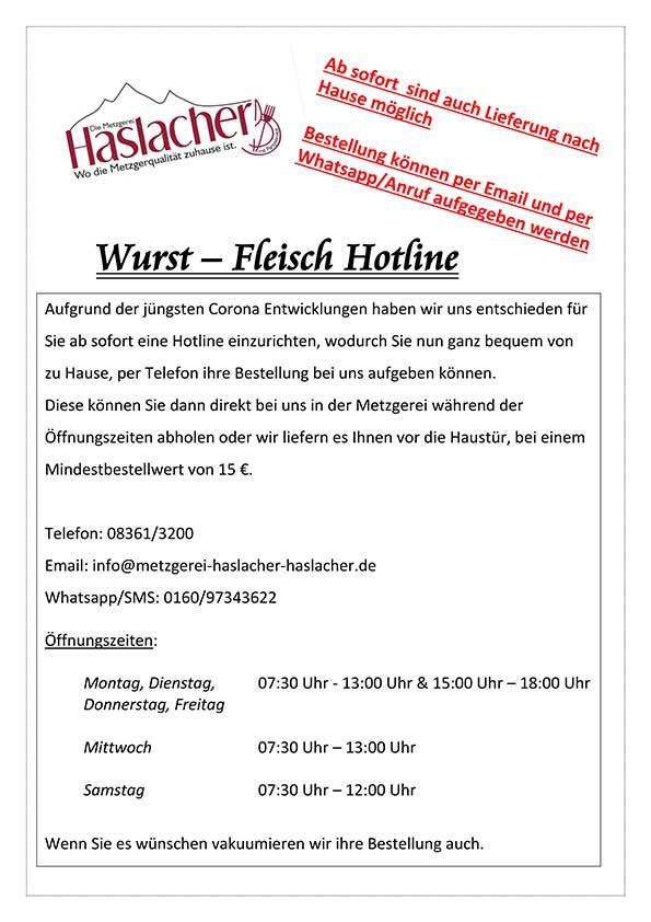 Wurst-Fleisch-Hotline